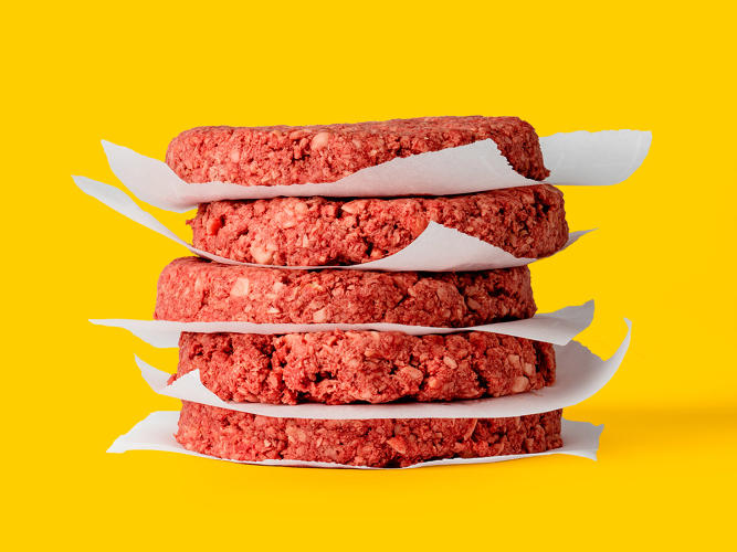 <p>Both Impossible and Beyond want you to feel like you are eating real meat when you eat their products—in fact, their plant-based burgers even bleed.</p>