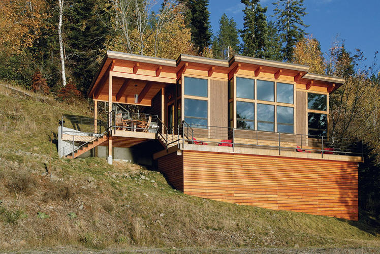 <p>The Sandpoint Cabin by <a href=&quot;http://www.fastcodesign.com/3062207/a-house-built-for-aging-in-place&quot; target=&quot;_self&quot;>FabCab</a> is located in Sagle, Idaho.</p>
