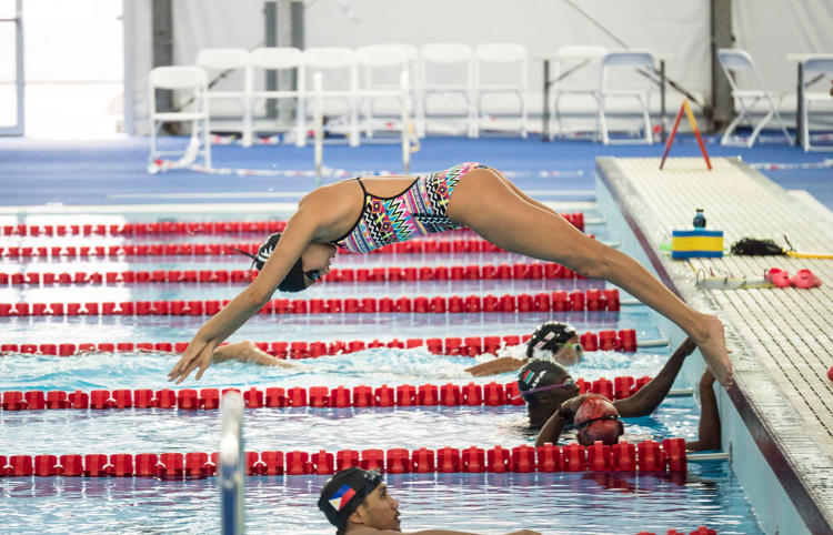 <p>Syrian refugee Yusra Mardini will compete in the 100-meter butterfly and freestyle.</p>