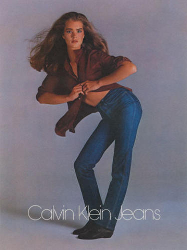 <p>Calvin Klein's legendary Brooke Shields ad, from the brand's heyday.</p>