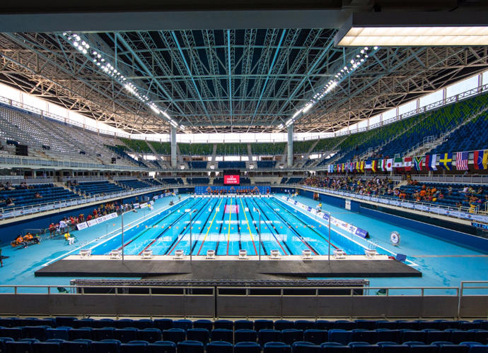 <p>Olympics Aquatic Stadium.</p>