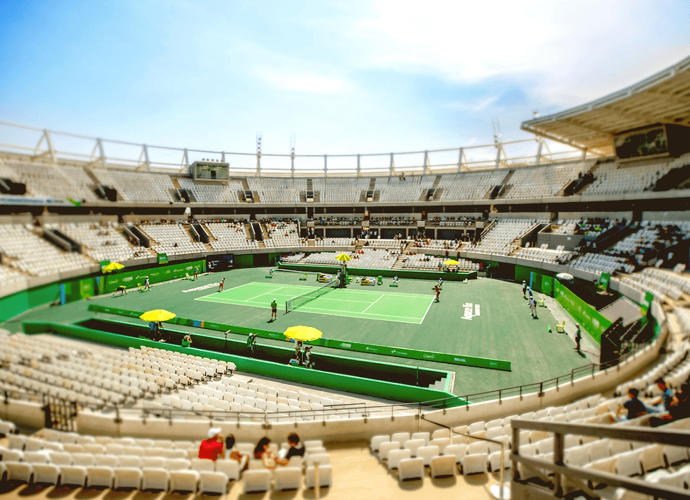 <p>The Olympic Tennis Centre, which has 16 separate courts.</p>
