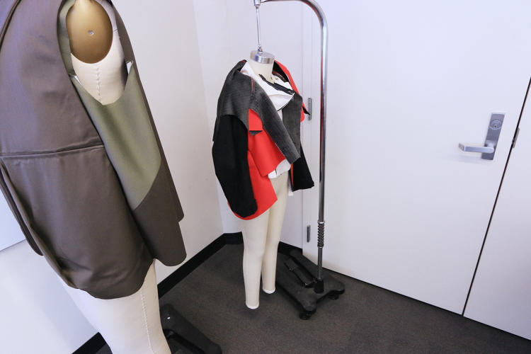 <p>Jacket prototypes for Jim, who has a spinal cord injury and autonomic dysreflexia, and Justin, a 15-year-old with scoliosis.</p>