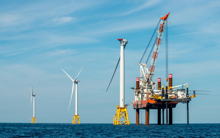 <p>Deepwater Wind began construction on the Block Island Wind Farm in 2015.</p>