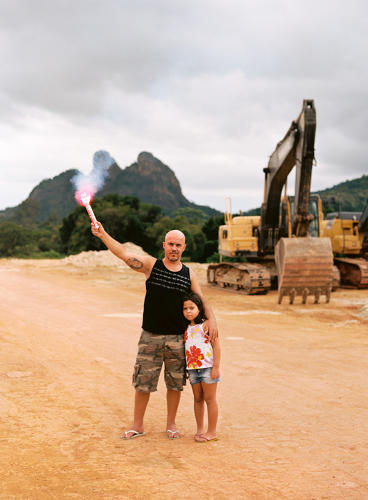 <p>Flávio used to visit this remote part of Rio to play sports. The densely forested area is now the scene of construction for the TransOlympic Highway.</p>