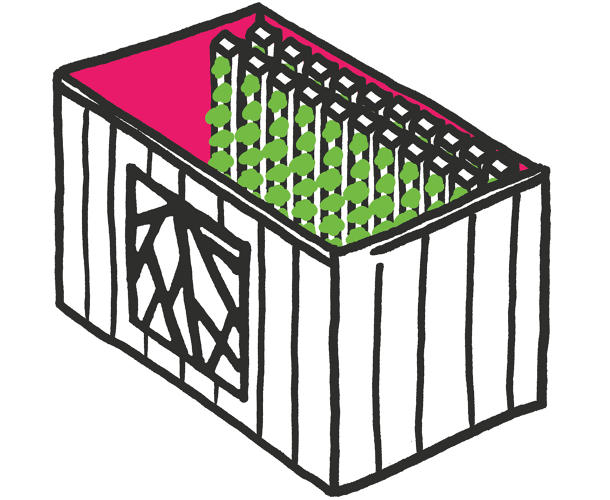 <p>How does vertical farming work? Something like this...</p>