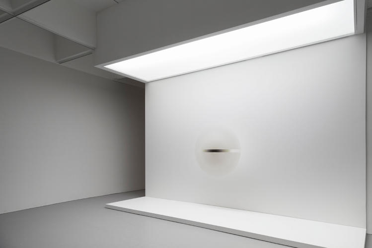 <p>Installation view of <em>Untitled</em>, 1969, in <em>Robert Irwin: All the Rules Will Change</em> at the Hirshhorn Museum and Sculpture Garden, 2016.</p>