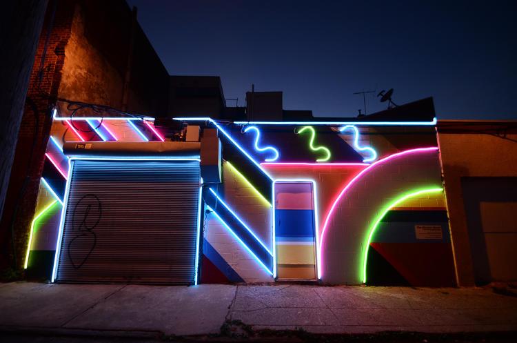 In philadelphia a mural designed to fight crime co for City lights mural