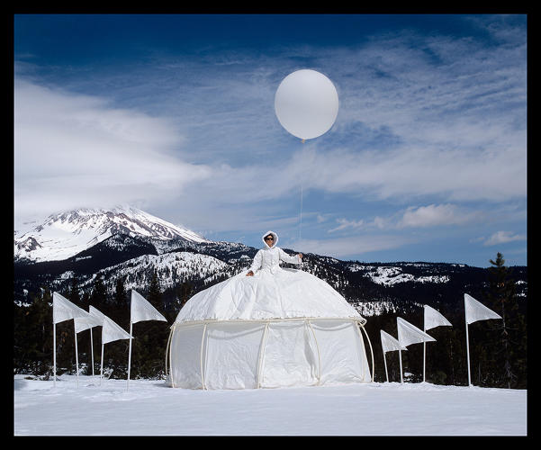 <p><em>Ice Queen: Glacial Retreat Dress Tent</em> (Installed in Mt. Shasta).</p>