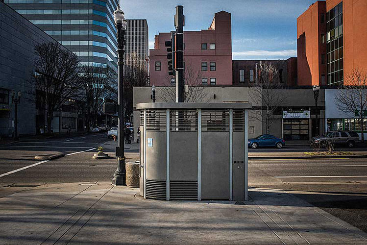 <p>To look at, the Portland Loo doesn't seem like much: a steel shell encasing a single silver toilet-bowl.</p>