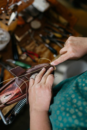 <p>Click through to see pictures of the Cole Haan's Made in Maine collection and manufacturing process.</p>