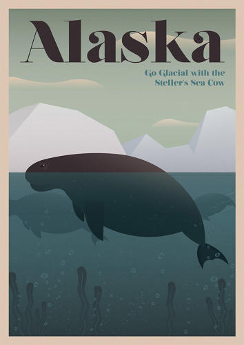 <p>The Steller's Sea Cow was hunted to extinction in Alaska by 1768</p>