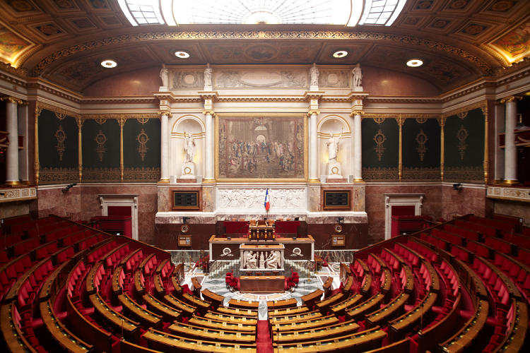 <p>The Assemble Nationale in Paris.</p>