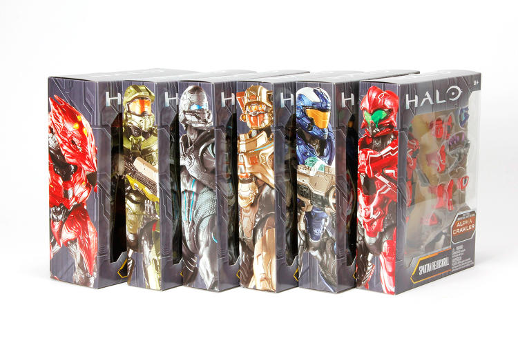 <p>A new line of Halo toys, including action figures like these, will roll out this year and next. There are also Halo T-shirts and comic books.</p>