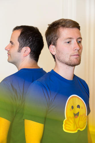 <p><strong>Julien Chaumond</strong> and <strong>Clément Delangue</strong>, cofounders of Hugging Face.</p>