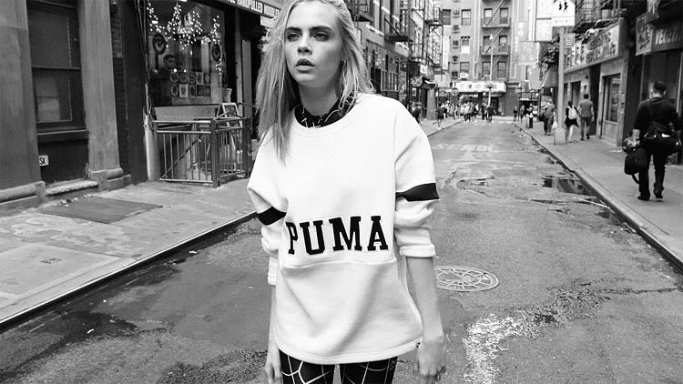 <p>Cara Delevingne in a brand new Puma campaign under the creative direction of Rihanna.</p>