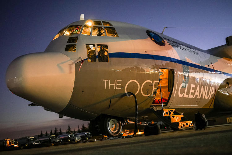 <p>It flew a series of reconnaissance trips across the so-called Great Pacific Garbage Patch, the buildup of plastic between California and Hawaii.</p>