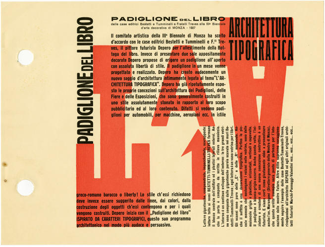 <p>Founded in 1909, Italian Futurism started with the literary avant-garde, and text remained key even as the movement grew to incorporate the visual arts.</p>