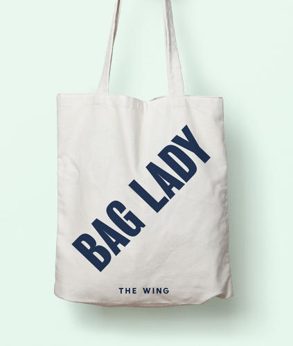 <p>This tote bag was included in all the gift boxes sent to new members. The Wing now has 350 members, and is looking to induct more on the 25th of every month.</p>