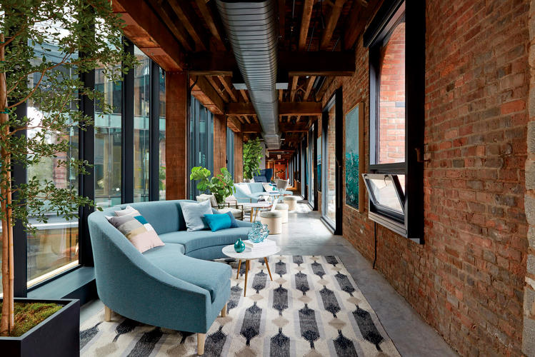 <p>The space is furnished with pieces from its <a href=&quot;http://www.westelmworkspace.com/&quot; target=&quot;_blank&quot;>Workspace</a> line, which debuted in 2015, along with artwork and crafts from its vendors.</p>