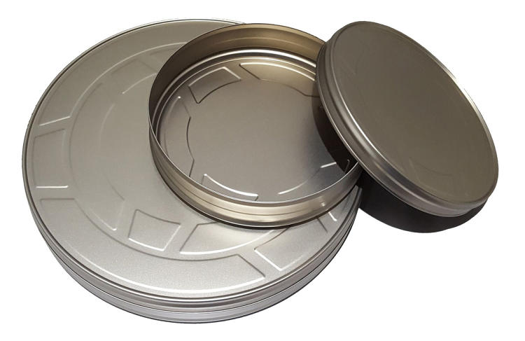 <p>These metal cans were made for the express purpose of storing movie film, but they are also useful for organizing items such as photos and paper items.</p>