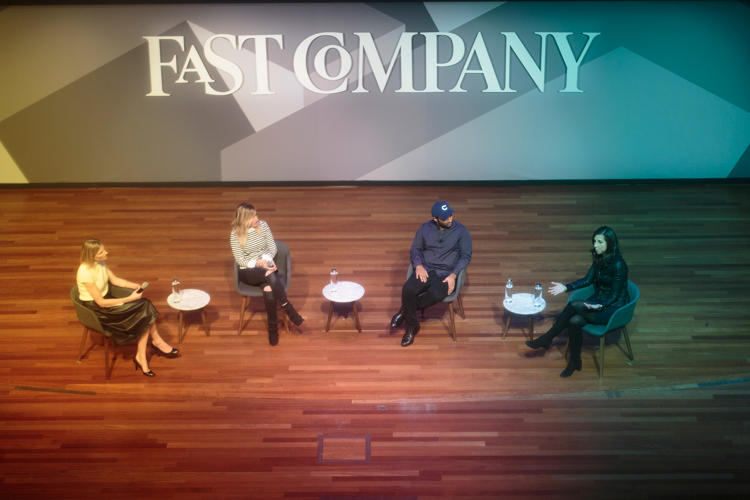 <p>Fast Company's Amy Farley with Drybar's Alli Webb, Casper's Neil Parikh, and SoulCycle's Melanie Whelan at the Fast Company Innovation Festival</p>