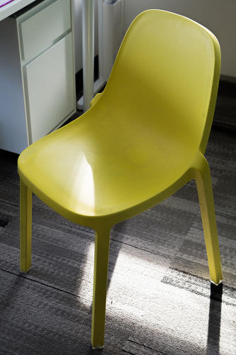 <p>A plastic chair at the sports news site  Bleacher Report</p>