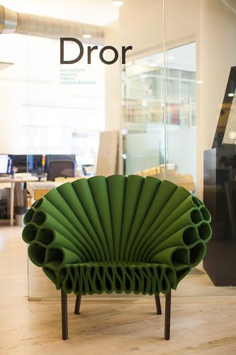 <p>The Peacock Chair by Dror for Capellini at Dror's New York studio</p>