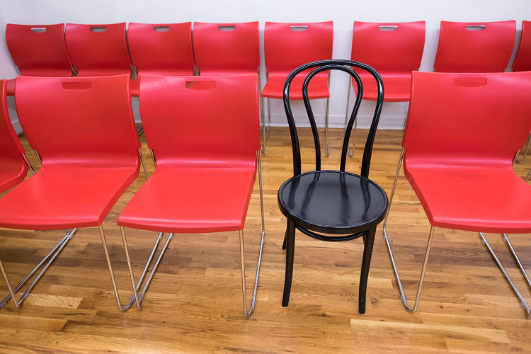 <p>The Thonet No. 14 at Upright Citizens Brigade. Developed in 1859, it's widely considered <a href=&quot;https://www.fastcodesign.com/1669142/how-do-you-make-the-worlds-most-popular-chair&quot; target=&quot;_self&quot;>the first successfully mass-produced chair</a>.</p>