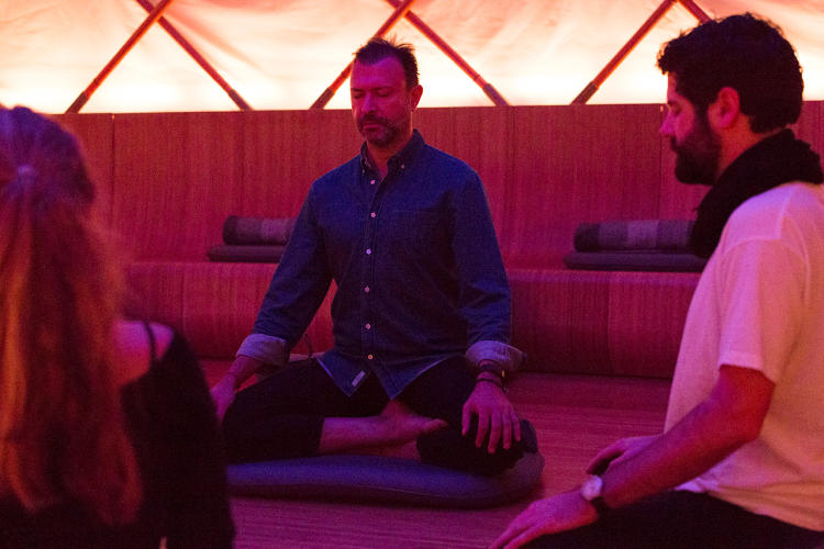 <p>Khajak Keledjian, CEO of the luxury women's clothing retailer Intermix, is opening his new meditation brand Inscape today in New York City.</p>