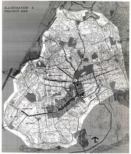 <p>Brooklyn Linear City proposed by Mayor Lindsay c. 1967</p>