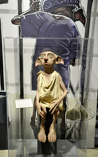<p>Dobby silicon figure created so Daniel Radcliffe could rehearse scenes with a physical version of the house elf. (<em>Harry Potter</em>)</p>