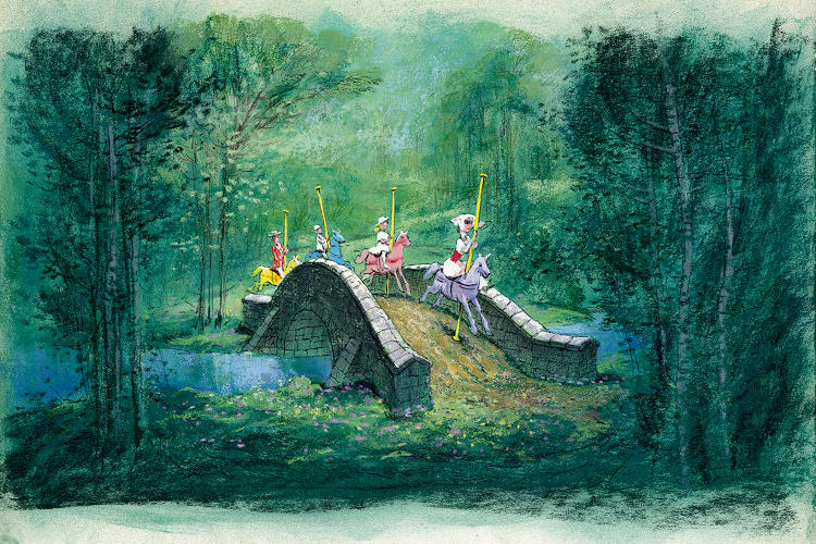 <p>Visual development art for the &quot;Jolly Holiday&quot; sequence from Mary Poppins.</p>