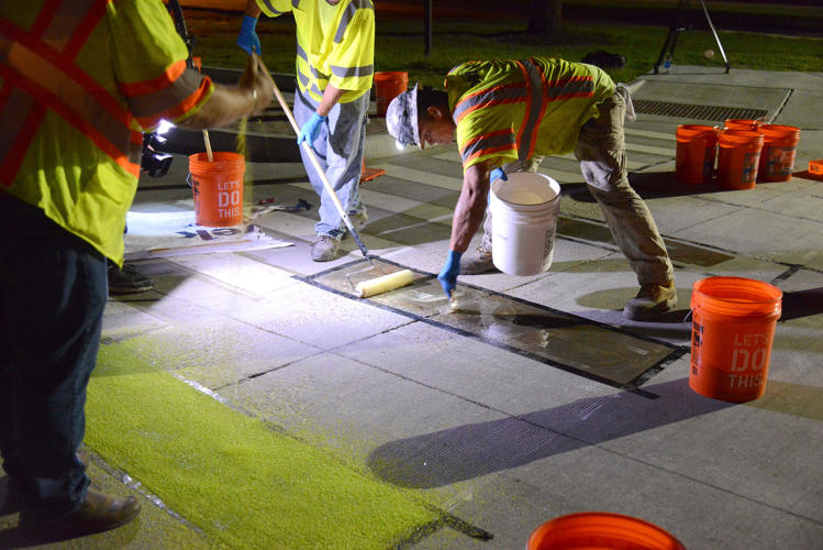 <p>The glow-in-the-dark lane—inspired by projects in the Netherlands—is the first of its kind in the U.S.</p>