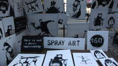 Banksy Set Up Shop In Central Park This Weekend
