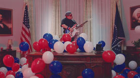 Patton Oswalt Takes The White House In Weezer's Patriotic Video
