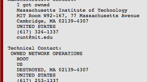 MIT Hacked; Pro-Aaron Swartz Message Left