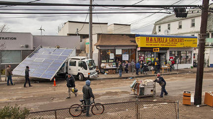 A Solar Power Generating Truck Brings Light To Sandy's Victims